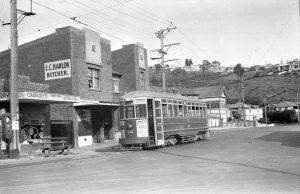 West Hobart tram terminus in Mellifont Street